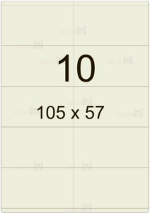 Этикетка А4 105х57