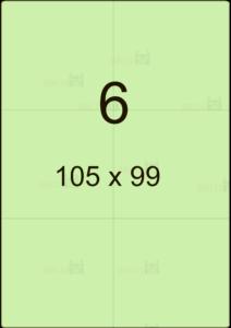 Этикетка А4 105х99