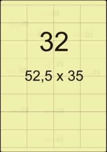Этикетка А4 52,5х35
