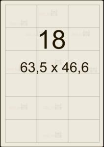 Этикетка А4 63,5х46,6