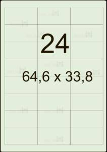 Этикетка А4 64,6х33,8