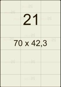 Этикетка А4 70х42,3