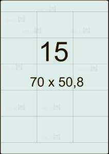 Этикетка А4 70х50,8