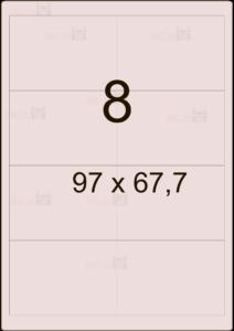 Этикетка А4 97х67,7