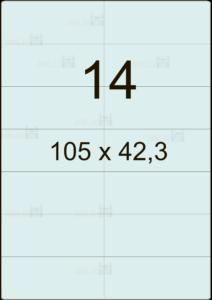 Этикетка А4 105х42,3