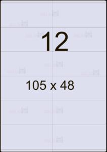 Этикетка А4 105х48