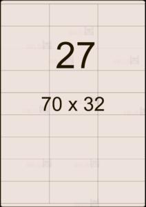 Этикетка А4 70х32