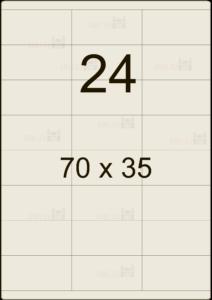 Этикетка А4 70х35