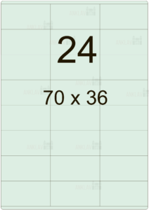 Этикетка А4 70х36