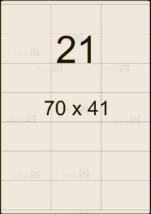 Этикетка А4 70х41