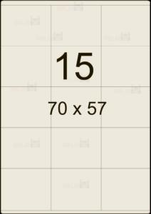 Этикетка А4 70х57